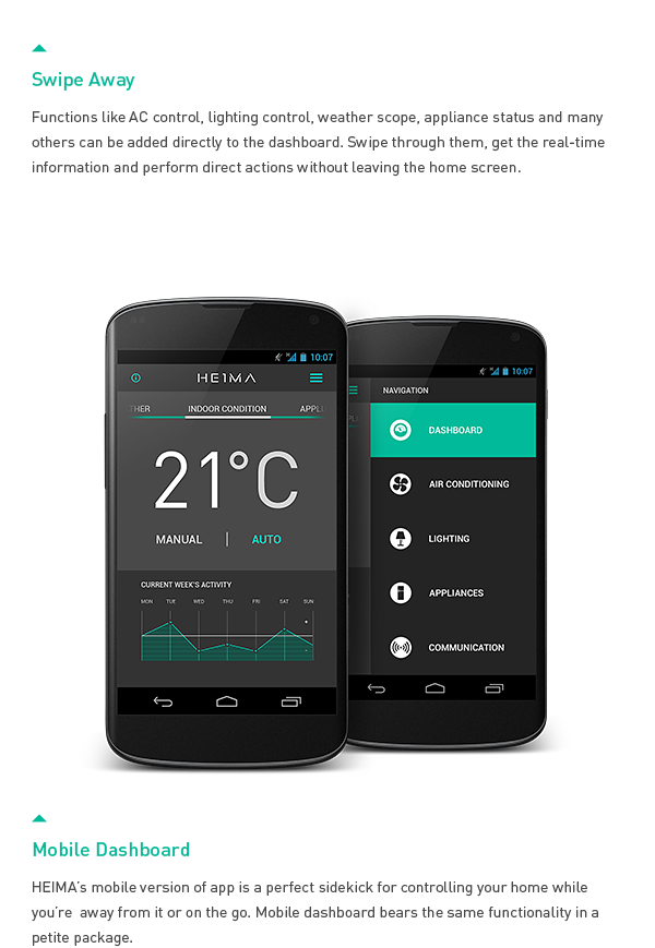 HEIMA is a smart home user interface. It is a project I