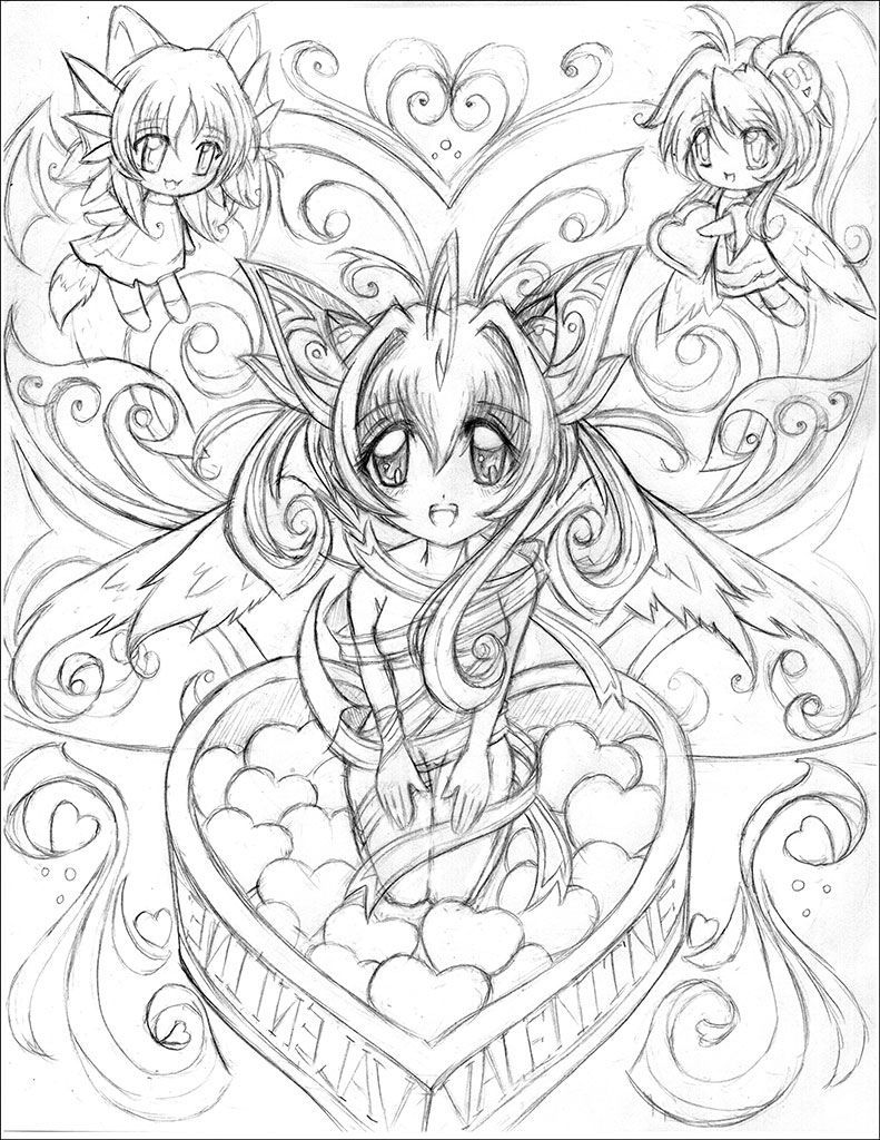 Coloring Pages For Adults Anime Fairy Coloring Pages Chibi Coloring Pages Coloring Books [ 1024 x 791 Pixel ]