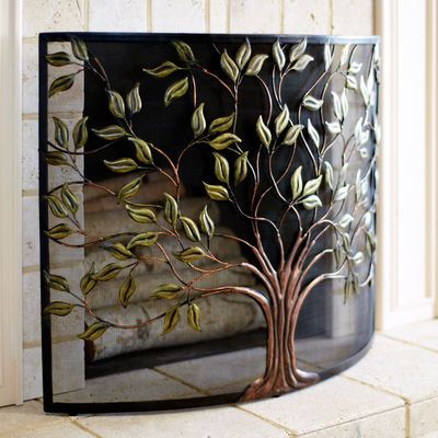 Cercis Tree Fireplace Screen Fireplace Screens Eclectic