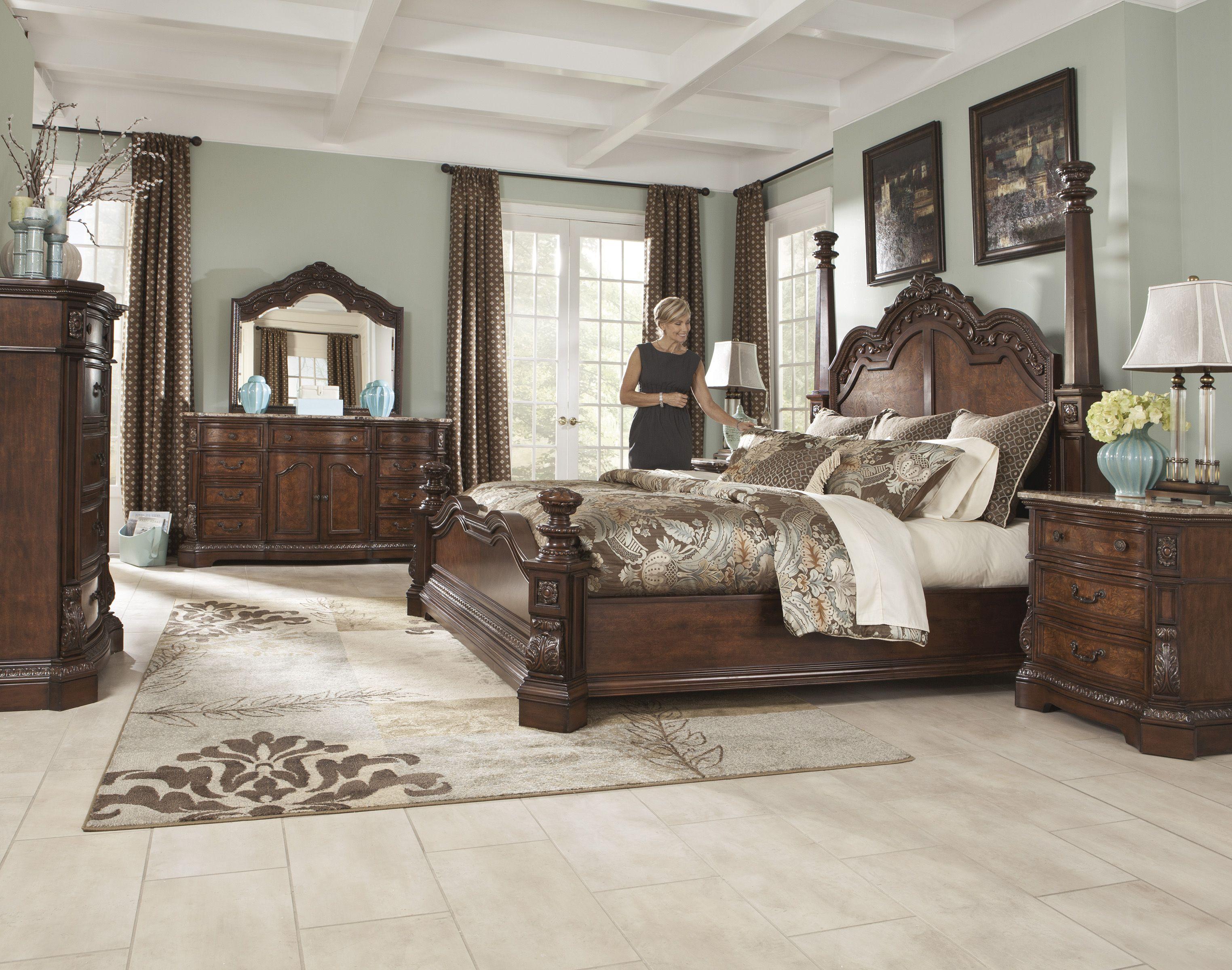 Adele Poster Bedroom Set By Ashley At Crowley Furniture In Kansas City King Bedroom Sets Bedroom Sets Master Bedroom Interior