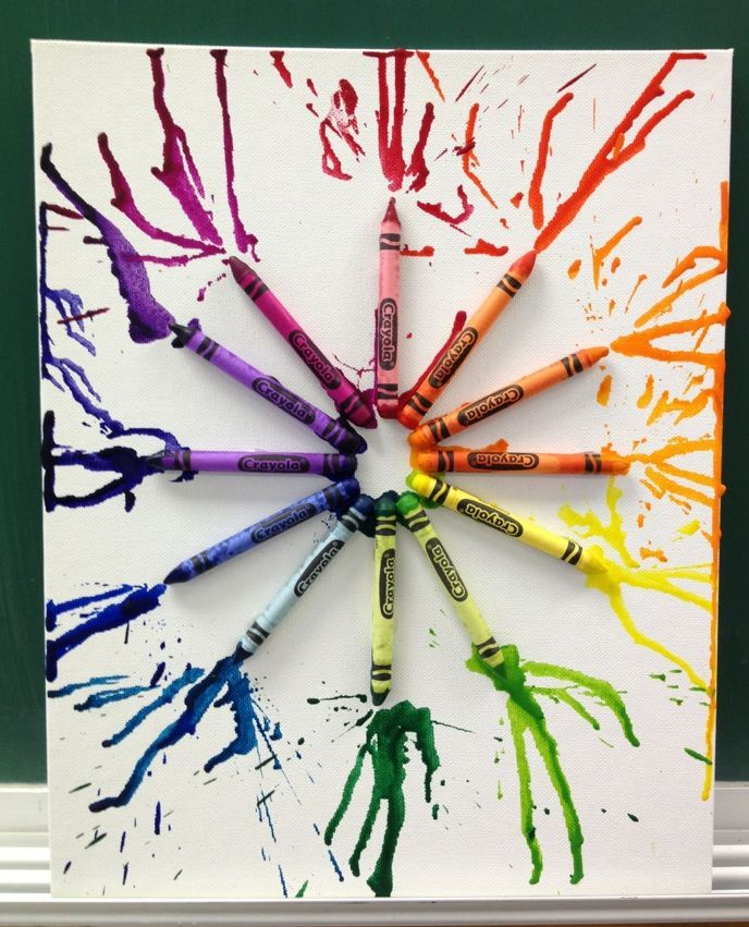 Crayon Color Wheel My Creations Pinterest Color Wheel Projects