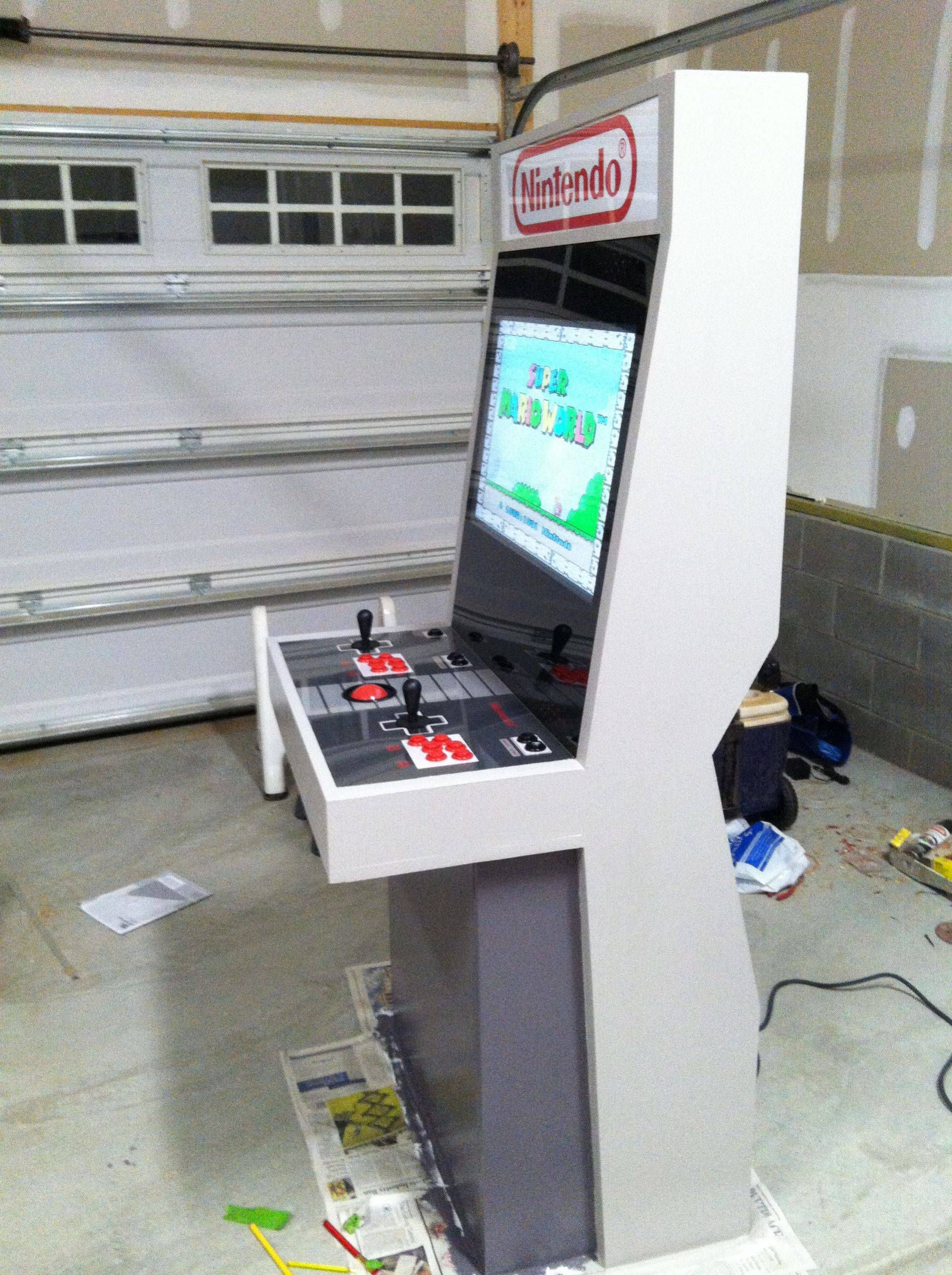 Just finished my Nintendo themed arcade cabinet
