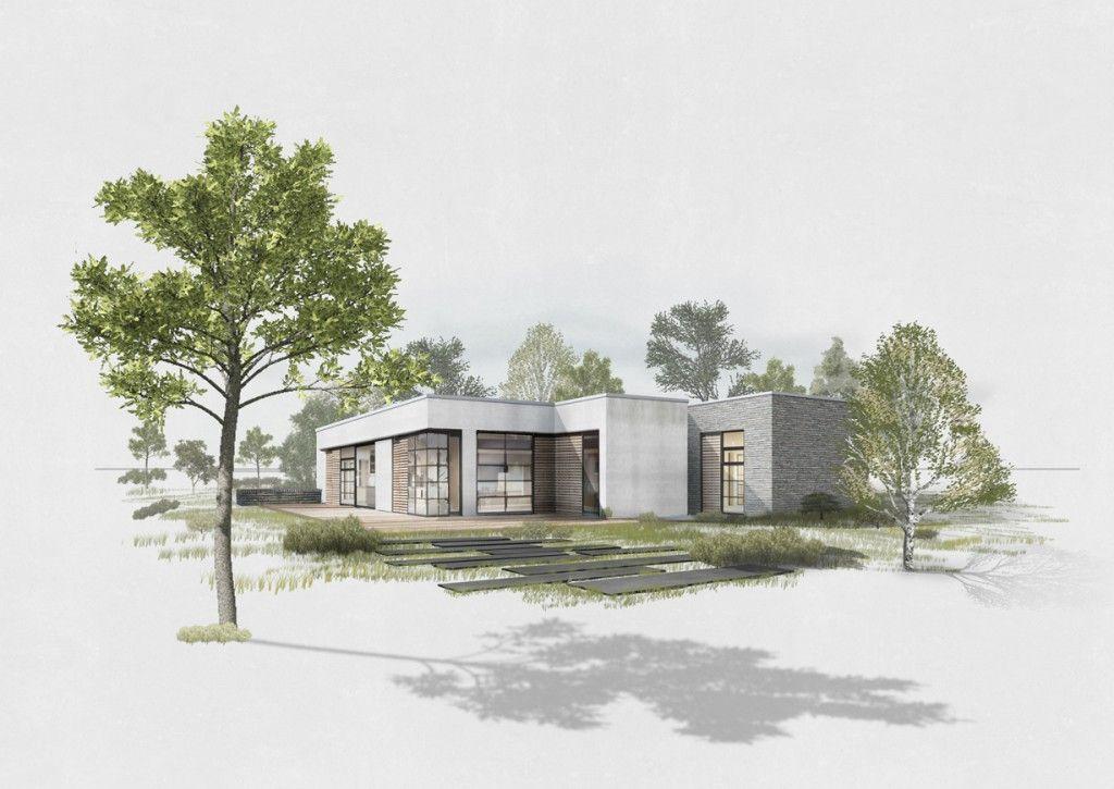 wohnhaus bungalow leipzig entwurf studium. Black Bedroom Furniture Sets. Home Design Ideas