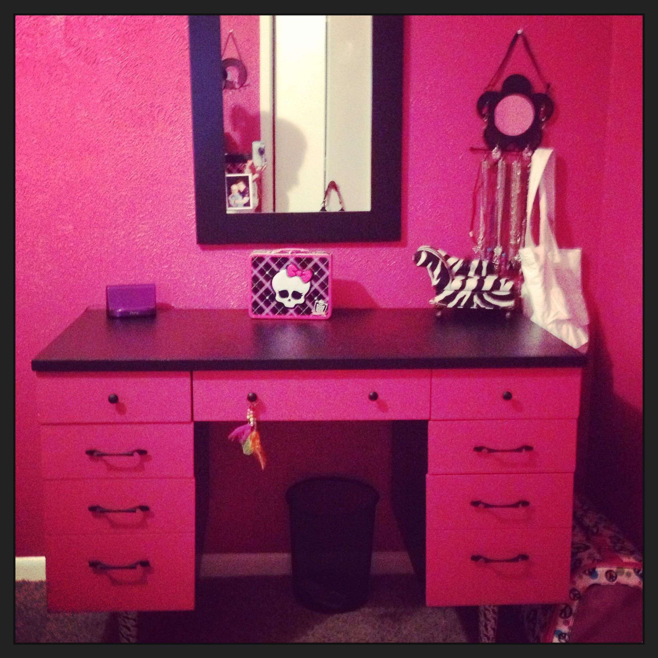 Dual Purpose, Desk & Vanity | Havyn's Bedroom | Pinterest | Girls
