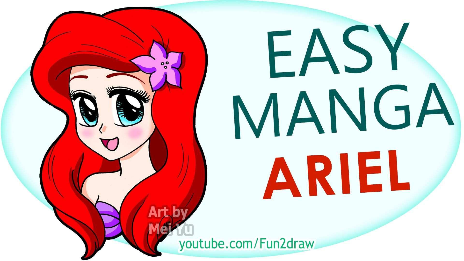 How To Draw A Manga Ariel Easy Step By Step Fun2draw Fun2draw Manga Mermaid Mermaid Drawings