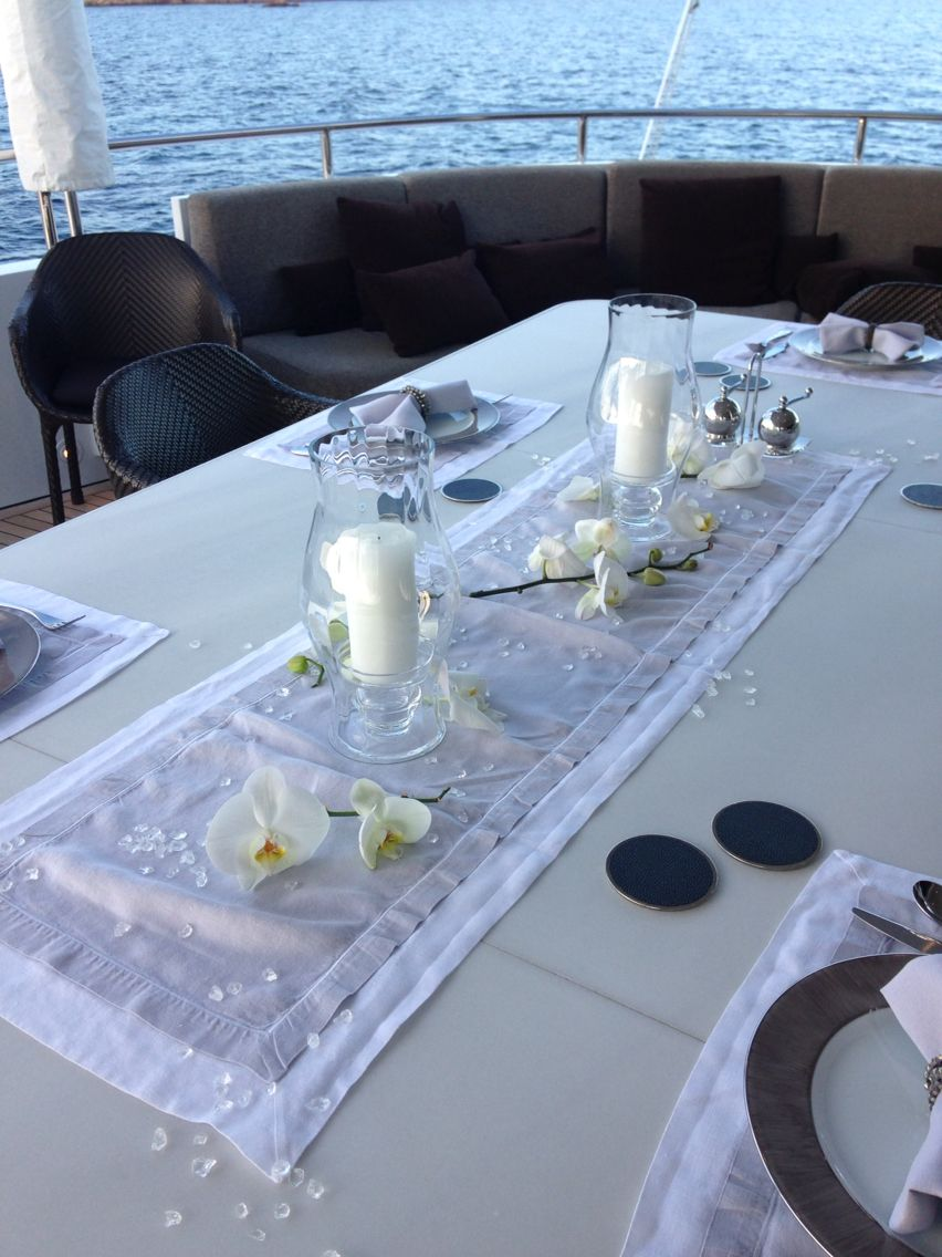 Pin On Table Settings On Super Yachts
