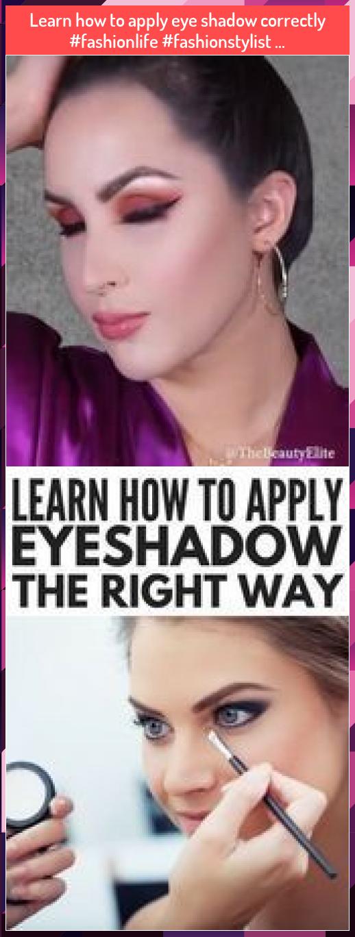 Learn how to apply eye shadow correctly fashionlife