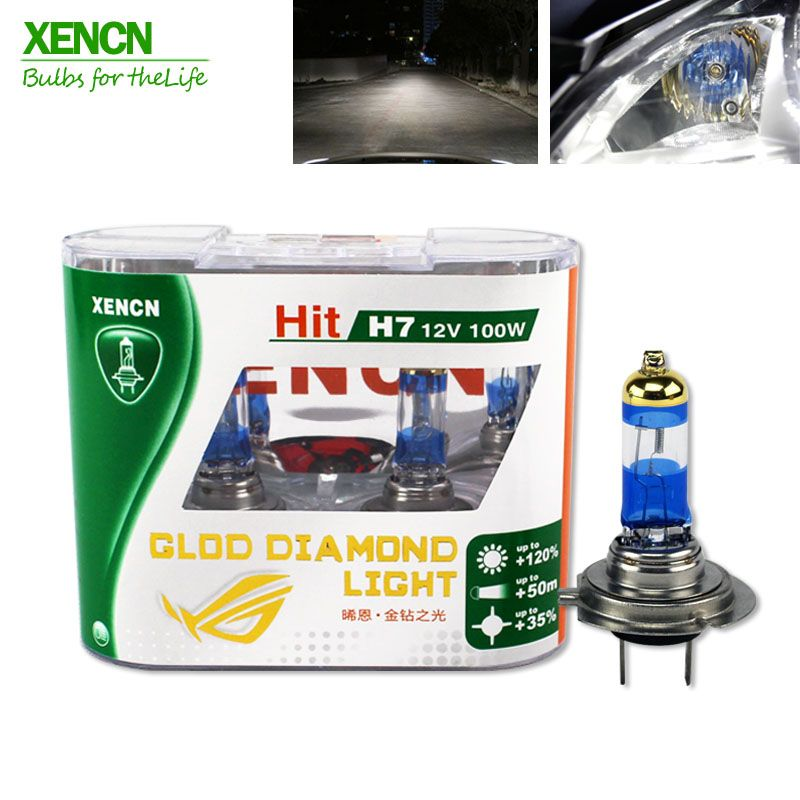 Xencn Xenon H7 12v 100w 4300k Gold Diamond Replacement Car Headlight Halogen Auto Fog Lamp Car Lights Car Headlights Bulb
