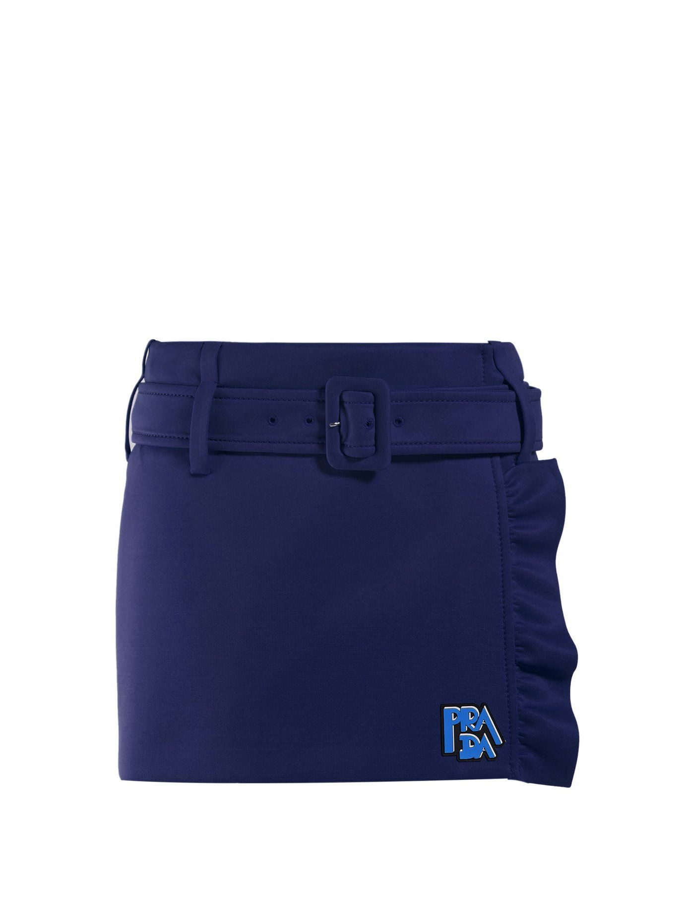 1da68cfe68b2e Belted ruffle-trimmed mini skirt | Prada | MATCHESFASHION.COM US ...