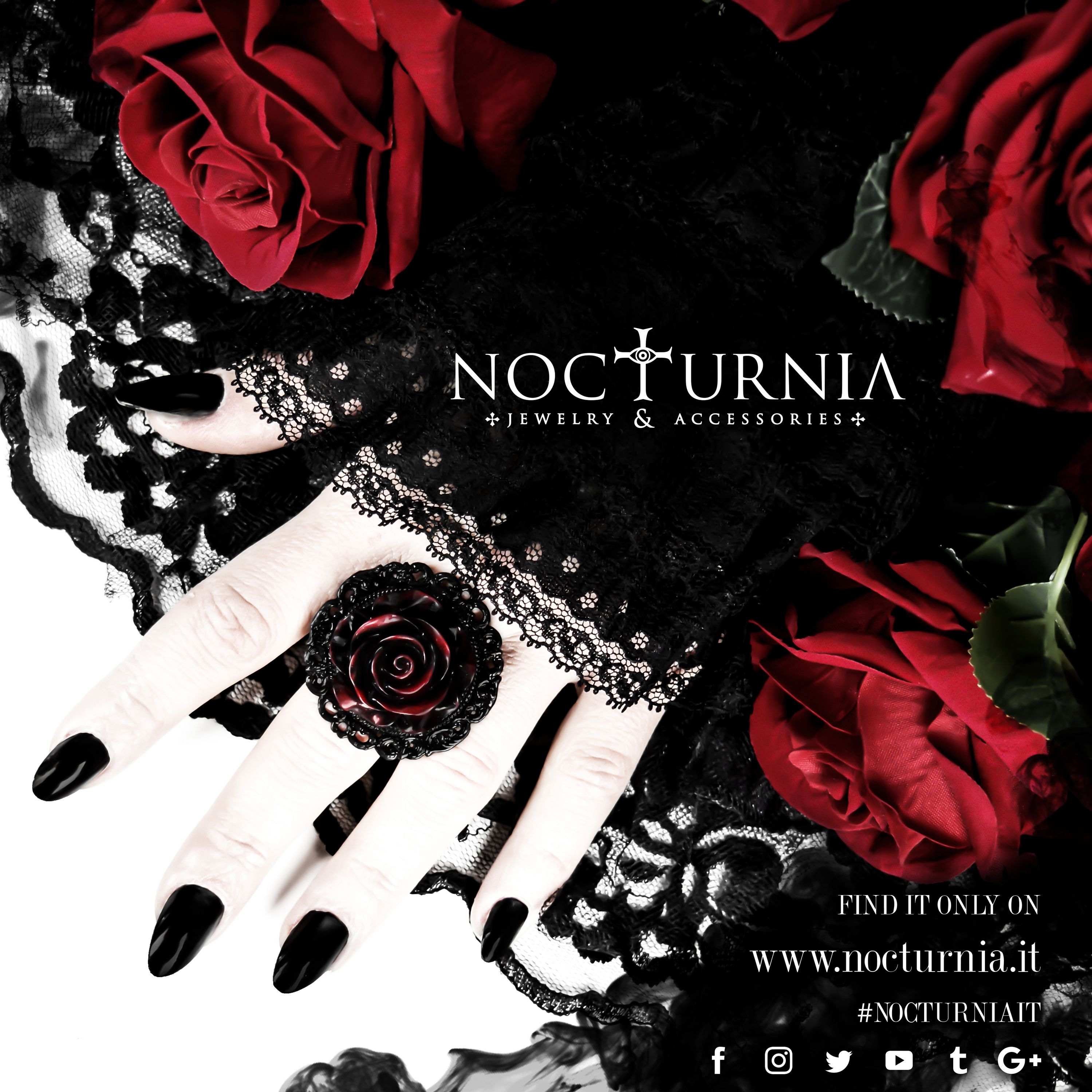 """The new ring by Nocturnia """"SHADES OF ROSE"""" ia available only here http://bit.ly/shadesofrosering Worldwide Shipping #nocturniait L'immagine può contenere: sMS"""