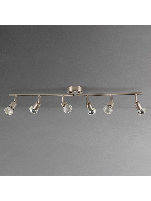new product dc2da 673af House by John Lewis Keely 6 Spotlight Ceiling Bar, Brushed ...