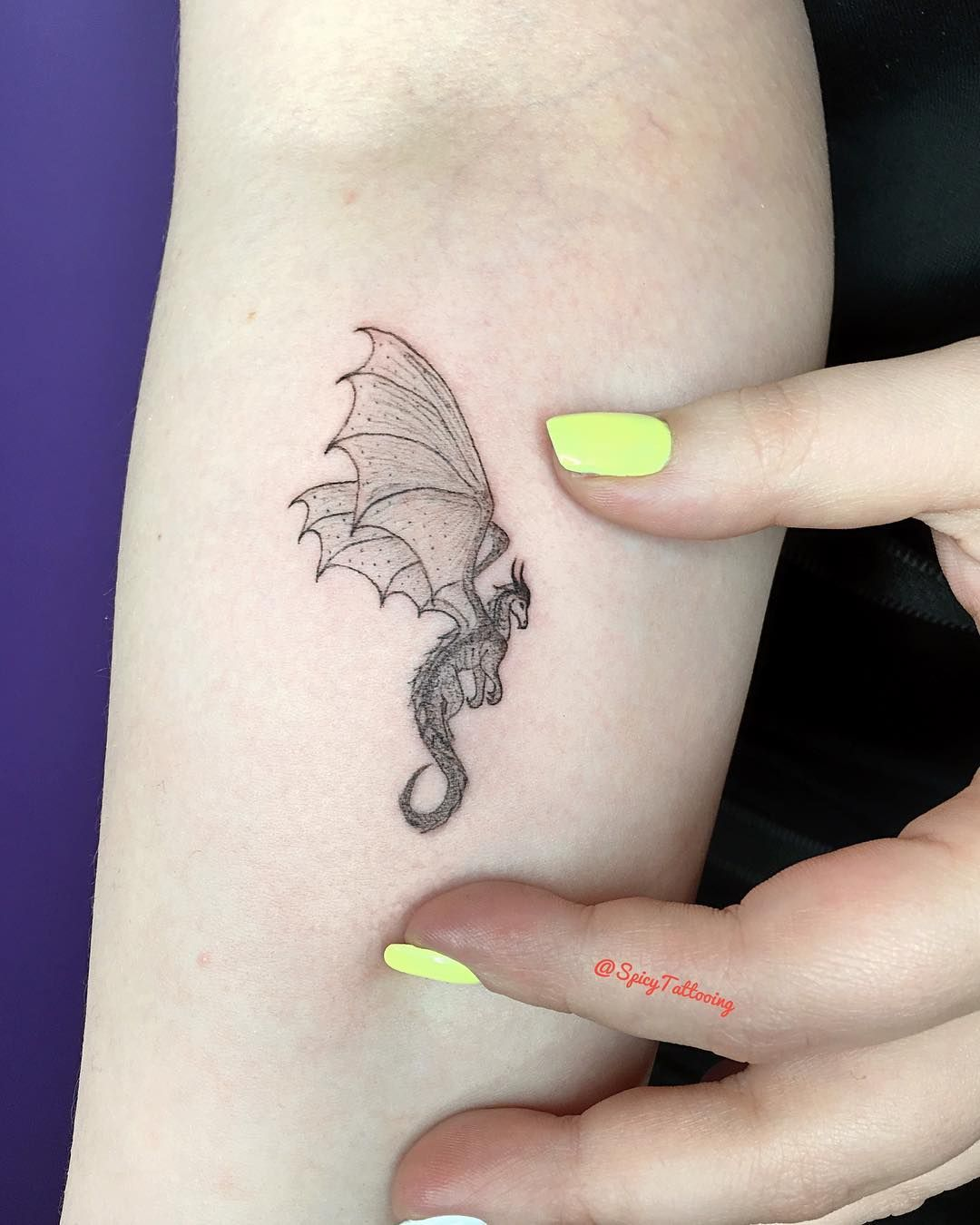 Photo of Tiny tattoo of Dragon from Game of Thrones