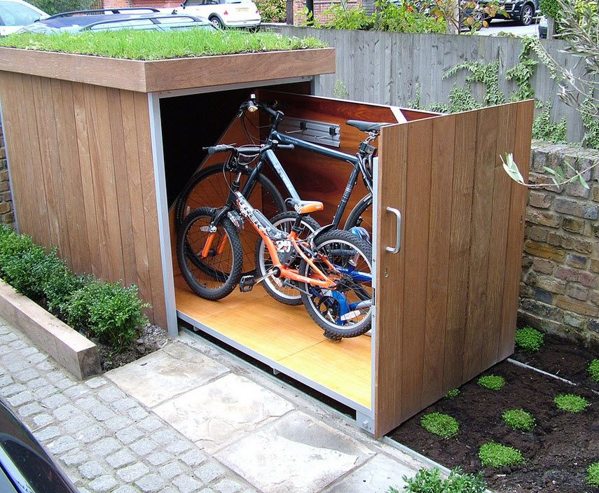Diy Project A Beautifully Design Bicycle Storage Shed Plans And Photos Patio Storage Bike Storage Bike Storage Shed Plans