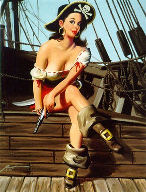 A bit of a wench pinup style pinterest pirate for Coupe cheveux burlesque