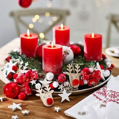 adventskranz red nose weihnachten weihnachtsdekoration. Black Bedroom Furniture Sets. Home Design Ideas