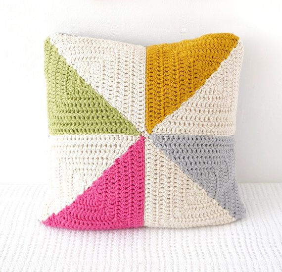 Summer Cushion Garden Decor Pinwheel Pillow Campervan Decor