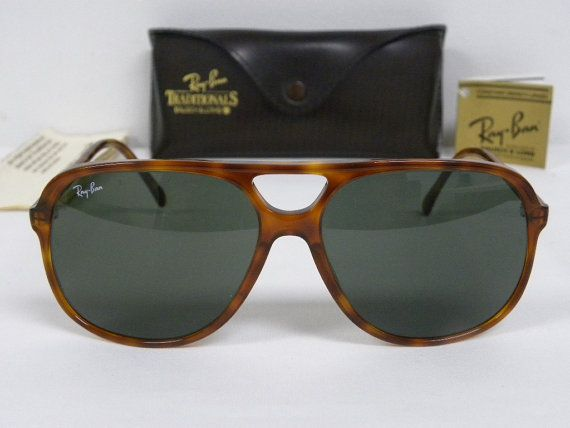 5c12747d02 New Vintage B L Ray Ban Traditionals Style B Blond Tortoise Brown G-15  L1673 Aviator Sunglasses usa