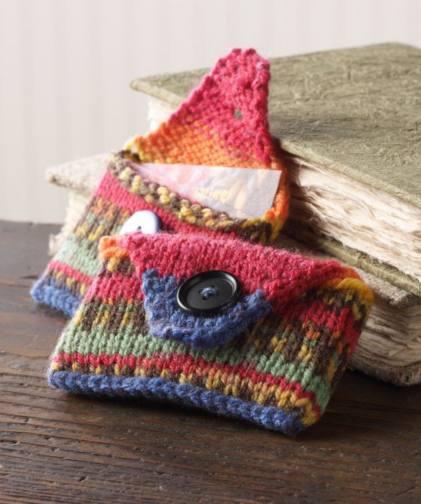 Easy Knitting Ideas Free : Great project to use up small yarn scraps how knit