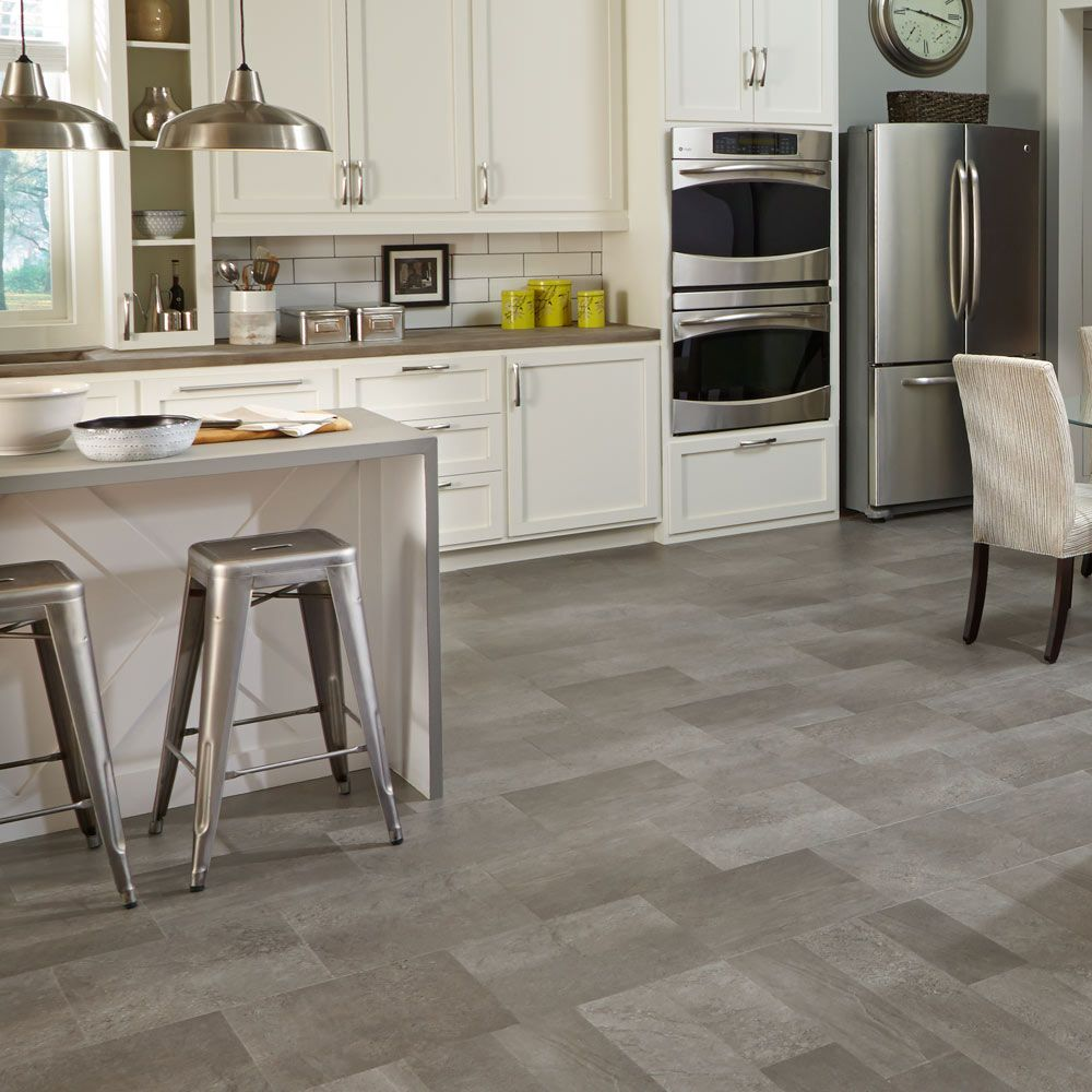 Adura® Meridian is a weathered concrete look with a mix of