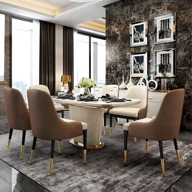 Modern Mid Century Beige Brown Faux Leather Dining Chair Upholstered Dining Chair Set Of 2 Faux Leather Dining Chairs Dining Room Furniture Styles Leather Dining Chairs