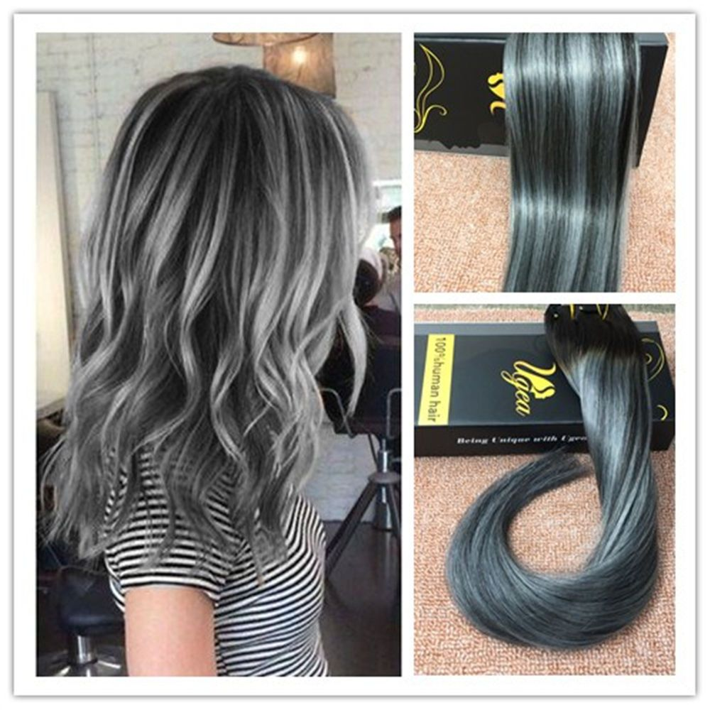 Balayage light brown 8 ombre bleach blonde remy clip in human 8a balayage remy real ombre clip in human hair extensions black silver thick ugea pmusecretfo Gallery