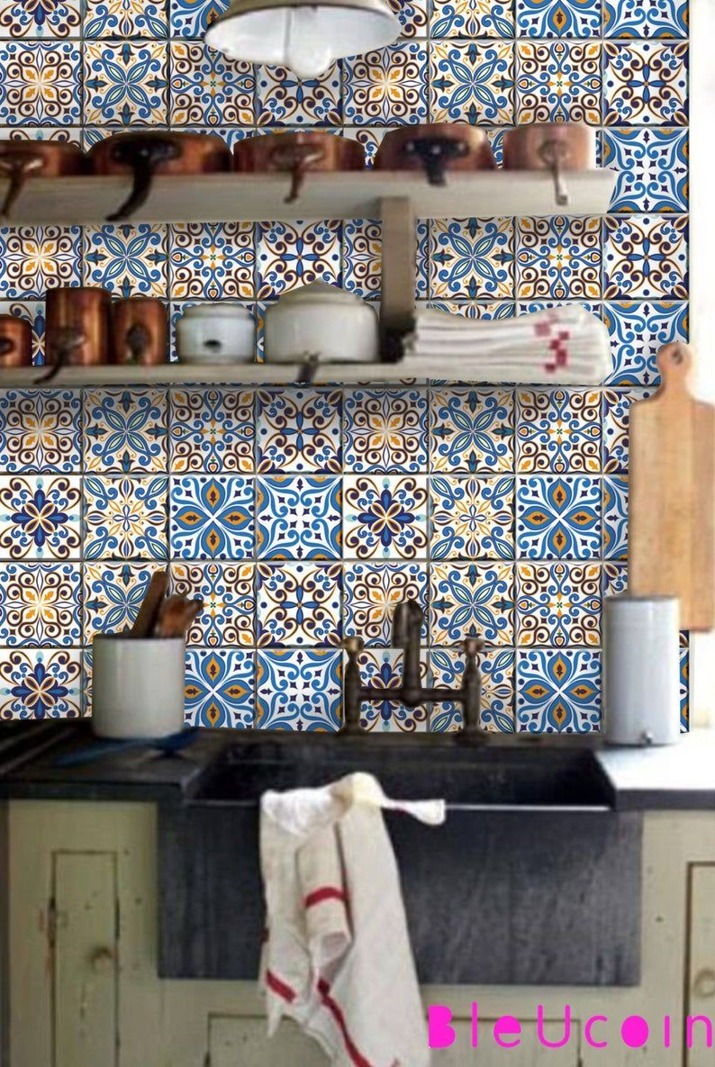 Portugal 8 Designs Mischen Fliesen Wand Abziehbilder Fur Kichen Badezimmer Boden Treppe Schranke Decken Sti In 2020 Wall Tiles Bathroom Flooring Wall Decals