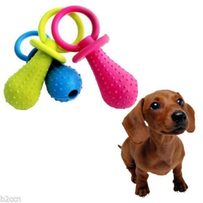 Puppy Pacifier Rubber Dog Toy Fraser Promotions Ltd Pet Bird