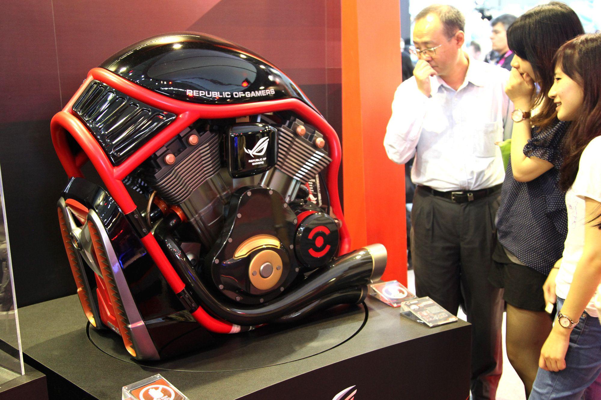 Custom Made Asus ROG Harley Engine Computer Case