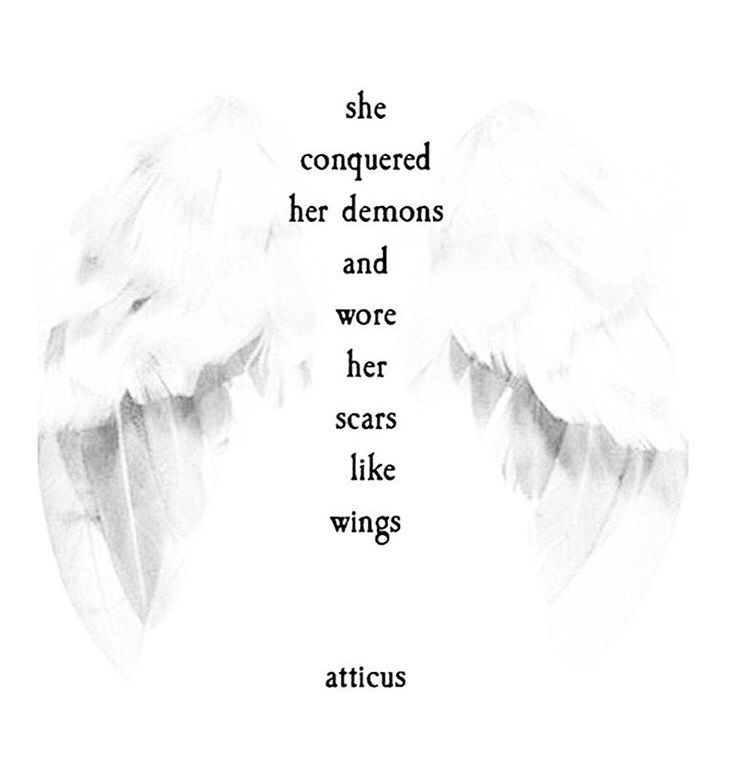 She Wore Her Scars Like Wings. [atticus]