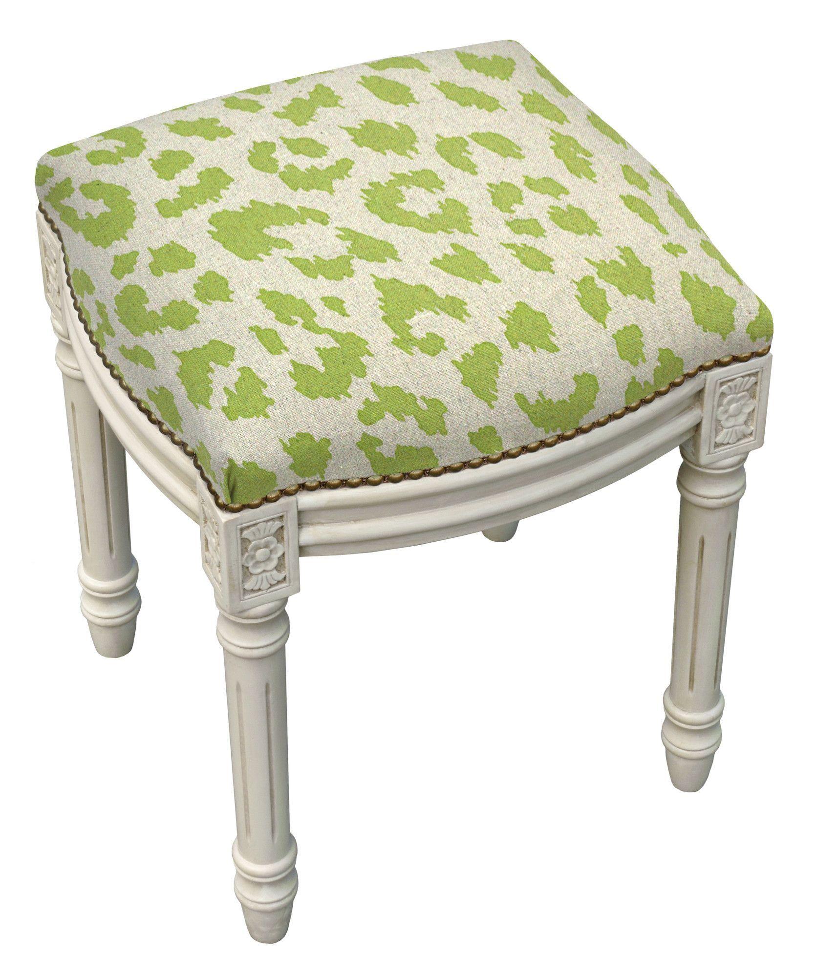 Excellent 123 Creations Animal Print Cheetah Linen Upholstered Vanity Ncnpc Chair Design For Home Ncnpcorg
