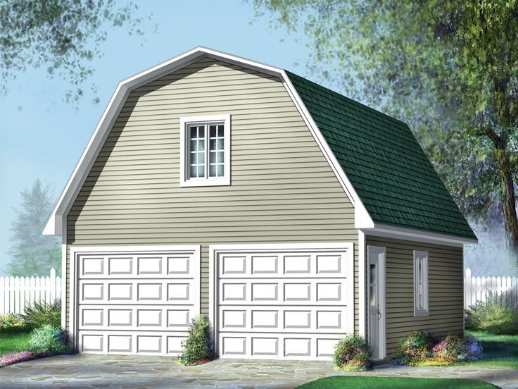072g 0015 2 Car Garage Loft Plan With Gambrel Roof Available In Multiple Sizes Garage Plans With Loft Garage Plans Garage Apartment Plans