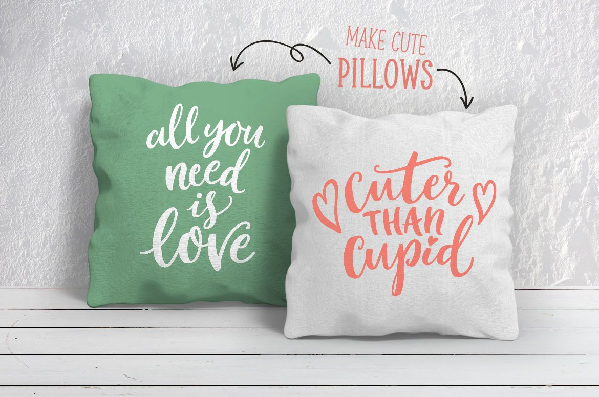 Get 15 Valentines Day Quotes Svg Bundle, Lettering, Hearts & Arrows PNG