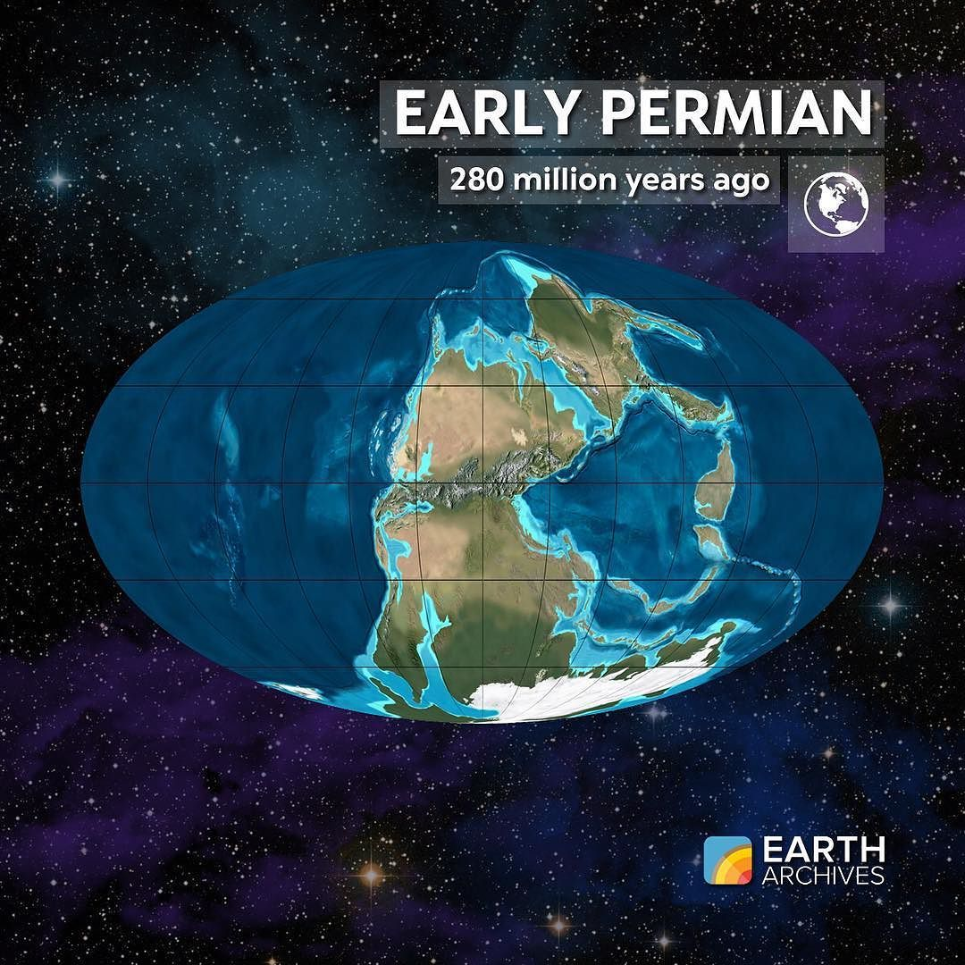 By the Early Permian 280 million years ago Pangaea had formed ...
