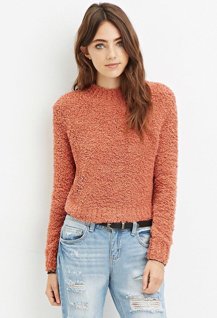 Fuzzy Mock Neck Sweater | Forever 21 - 2000161548 | **Forever 21 ...