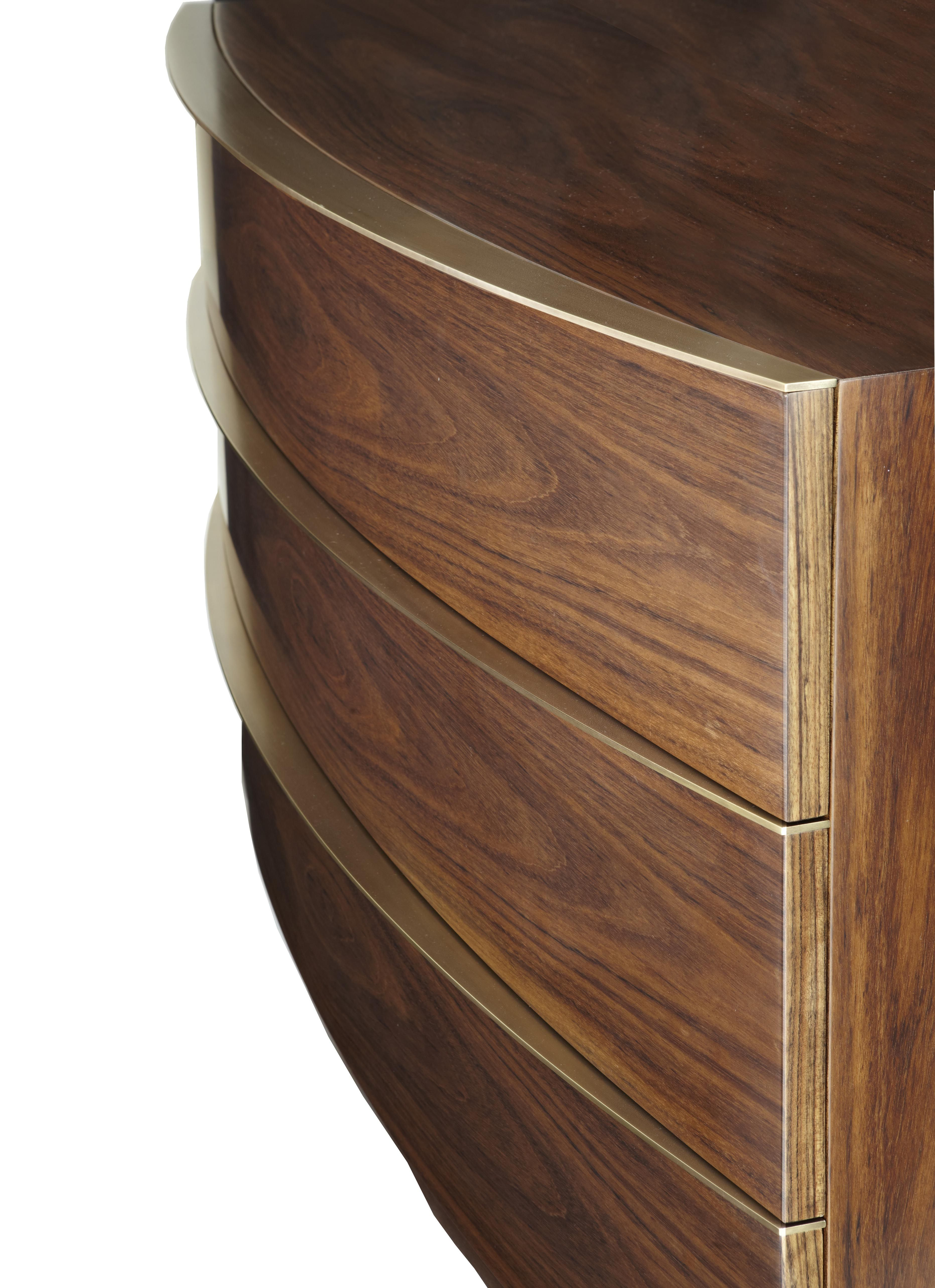 "Handmade curved console detail, model ""Oberon"" designed by Two is Company."
