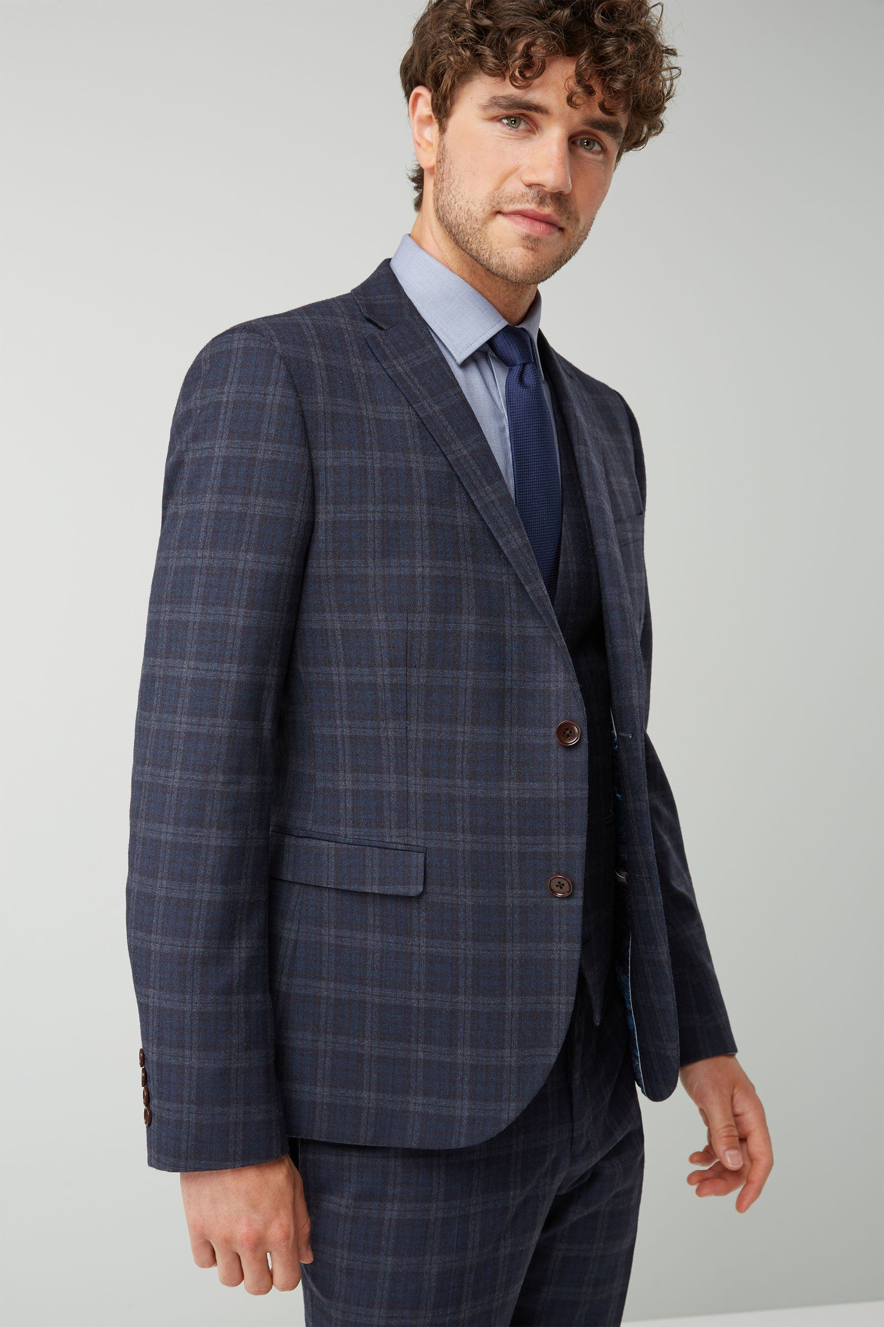 Next Tollegno Anzug mit Karomuster: Sakko Jetzt bestellen
