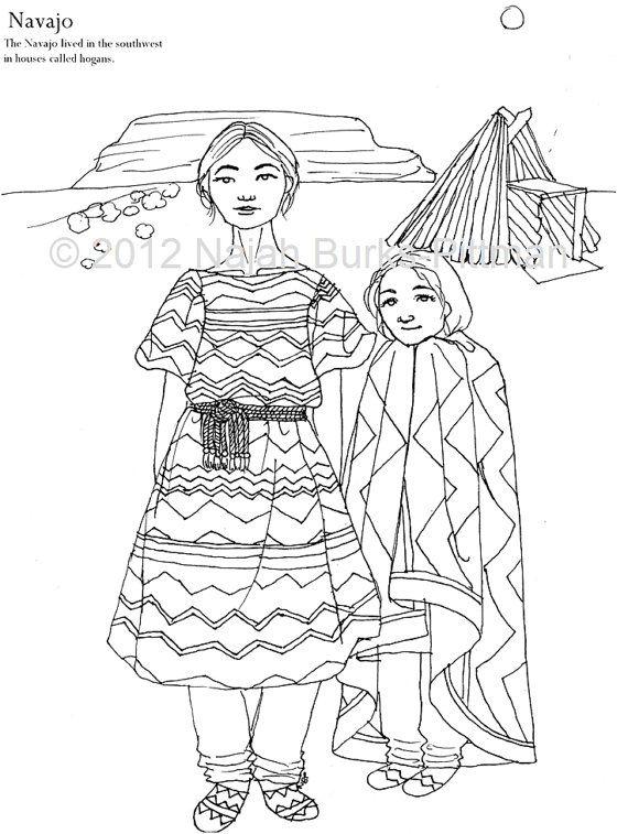 navajo dress coloring page