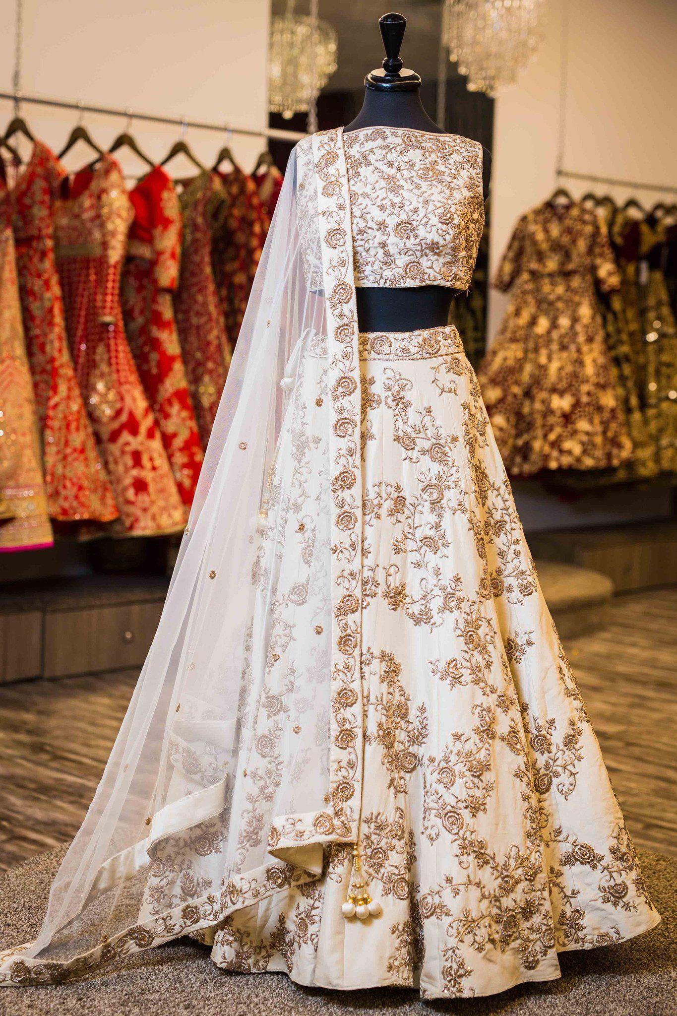 Champagne Bridal Lengha | Wedding Dress | Pinterest