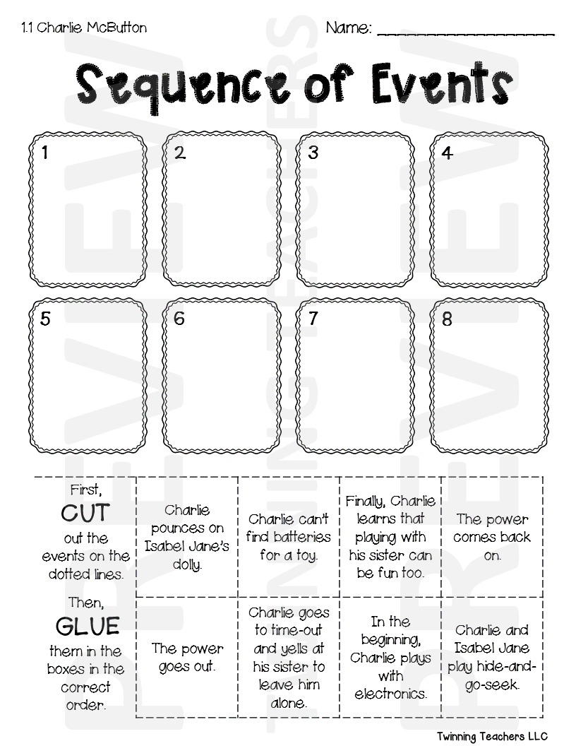 3rd Grade Reading Street   Sequence of Events   UNITS 1-6   3rd grade  reading [ 1056 x 816 Pixel ]