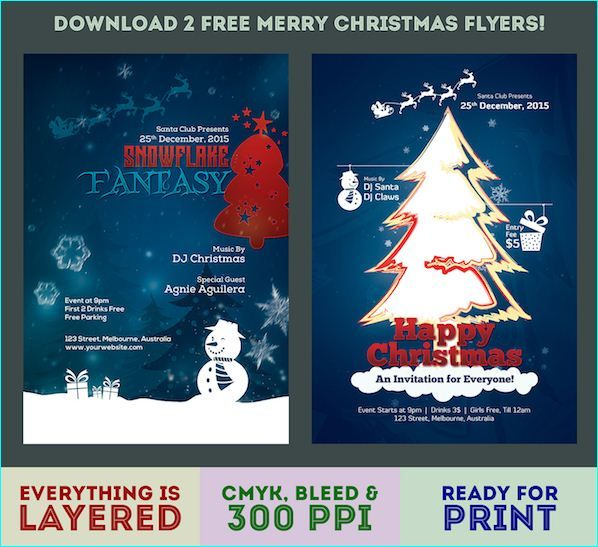 20 Awesome Free Christmas Flyer Templates Awesome Free Christmas