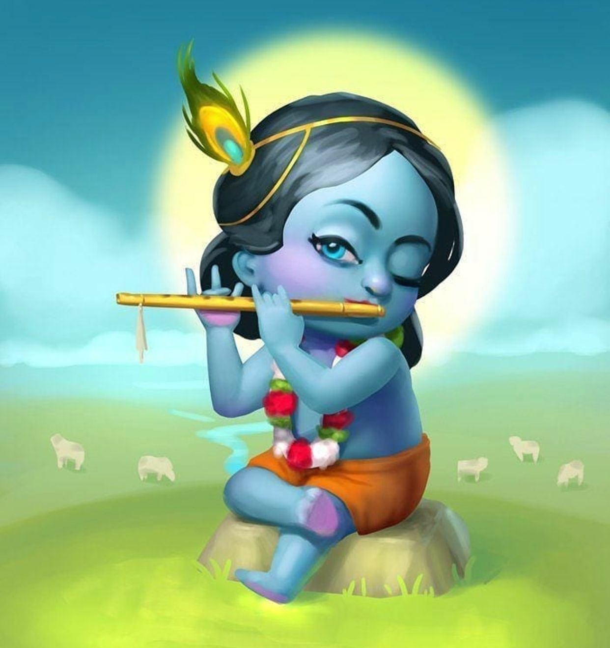 Pin By Priscilla On Cartoon Gods ॐ In 2019 Baby Krishna Lord Krishna Wallpapers Cute Krishna