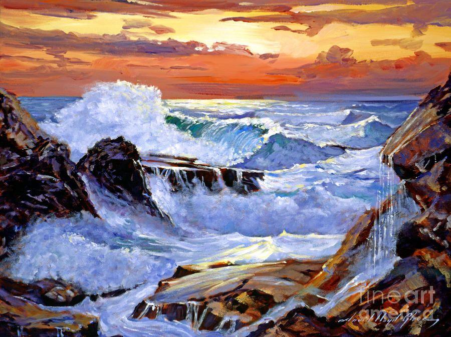 Painting of Irish coast