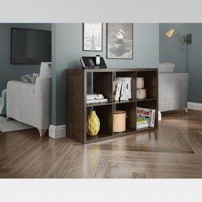 6 Cube Organizer Shelf Espresso 13 Threshold 6 Cube