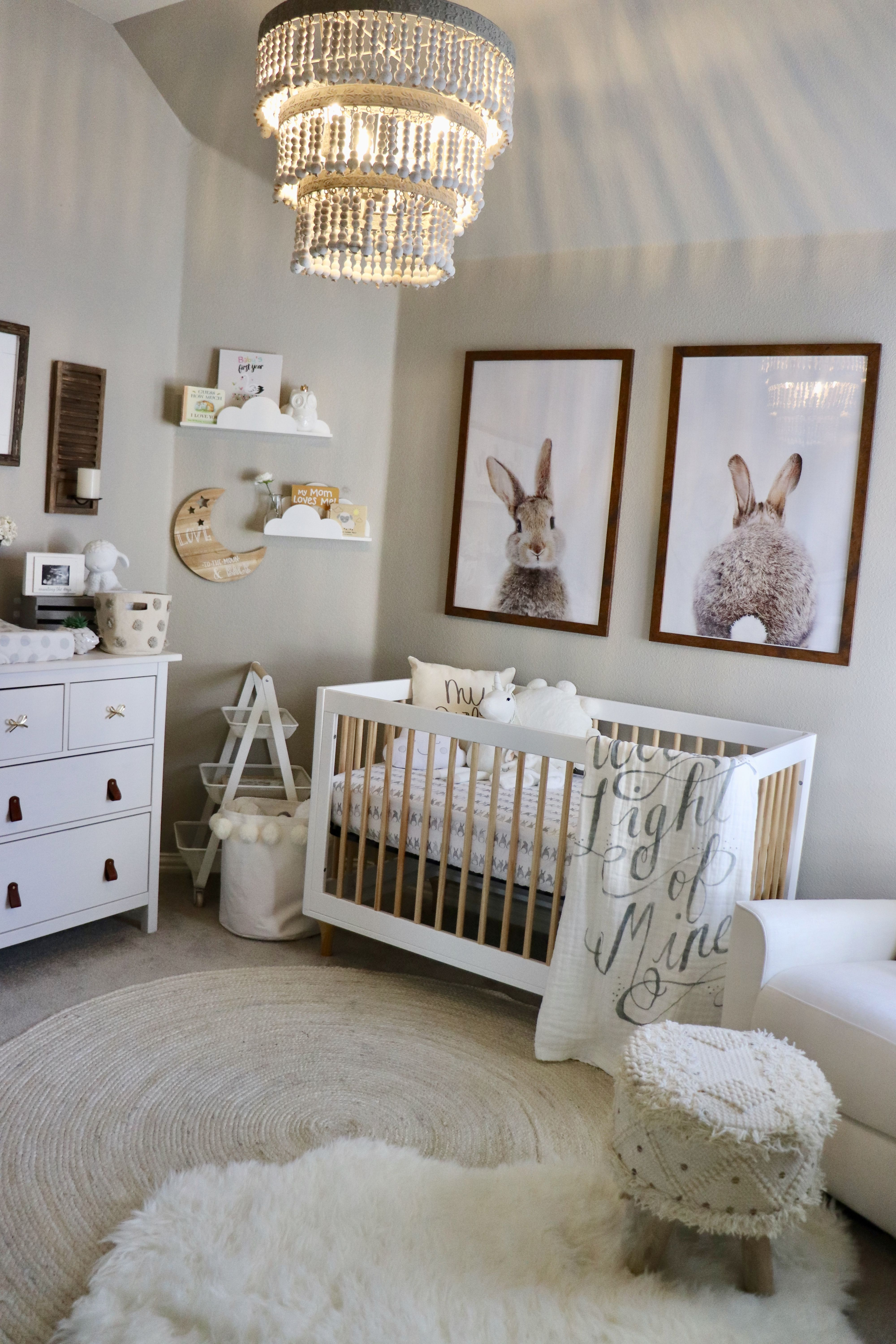 I Am Not A Major Pink Fan So My Goal Was To Create Cly Sweet Feminine Nursery Without It Used Neutral White Ivory And Gray Palette With