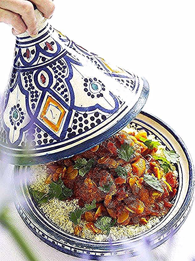 Photo of Chicken tajine is a tasty dish of stewed meat typically …