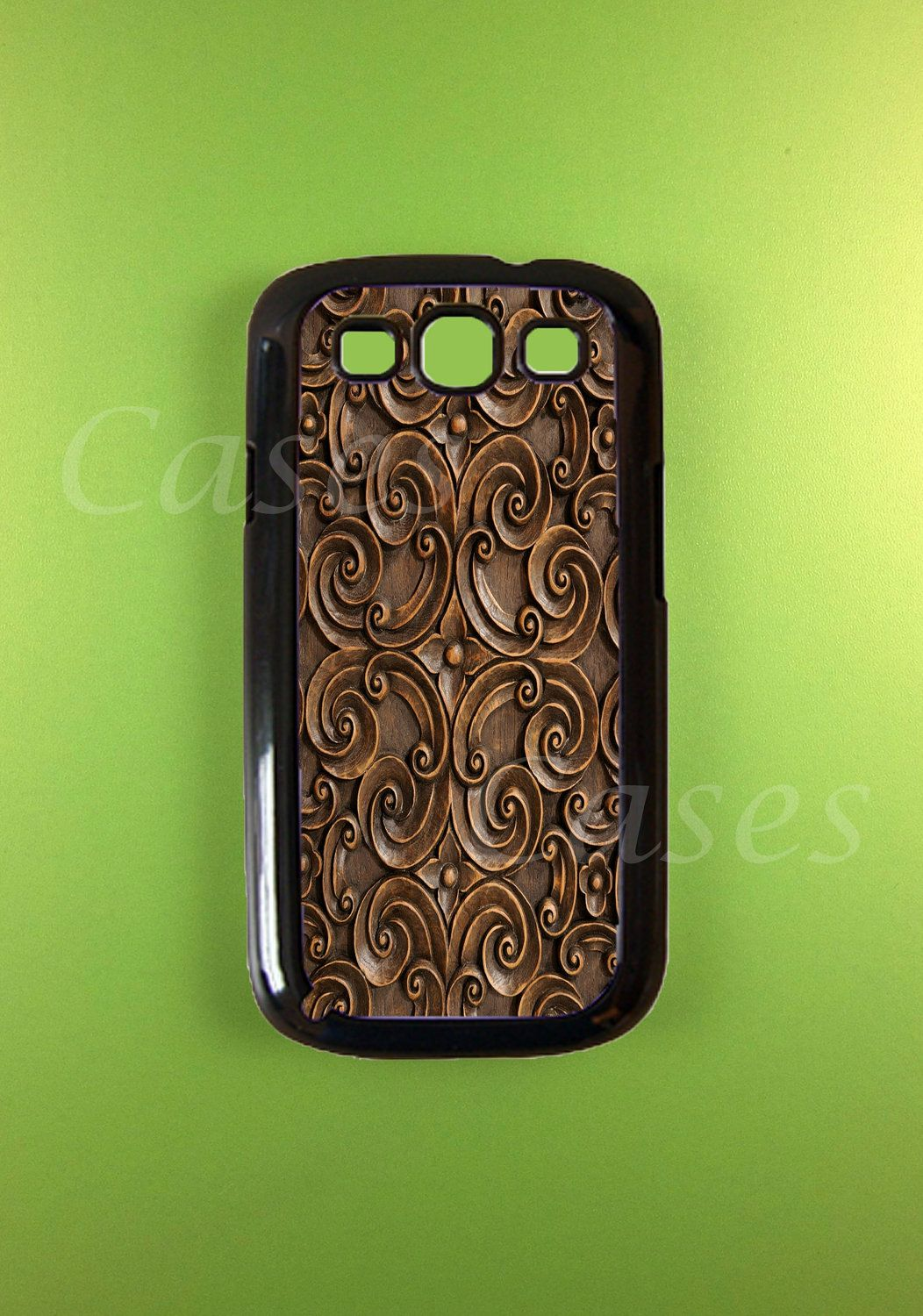 Samsung Galaxy S3 Cases - Carved Wood Design. $14.99, via Etsy.