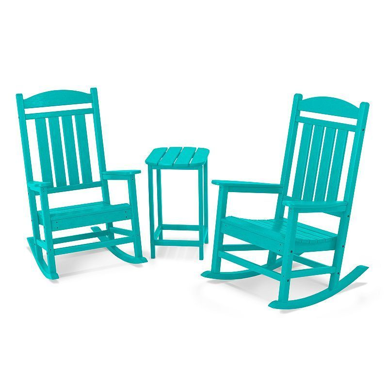 Polywood 194 174 3 Piece Presidential Rocking Chair Amp Table Set