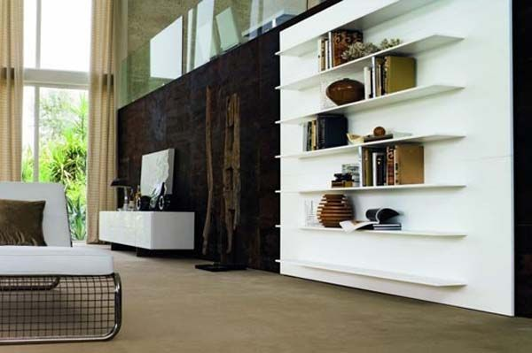 New Contemporary Bookcases Collection Italian Style By Doimo Design 4