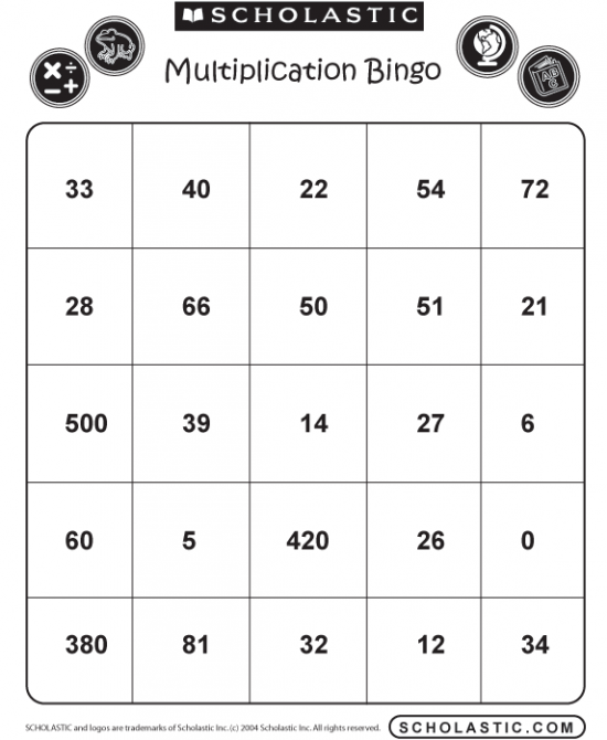 photograph about Multiplication Bingo Printable identify 49 Printable Bingo Card Templates Math Practicum Bingo