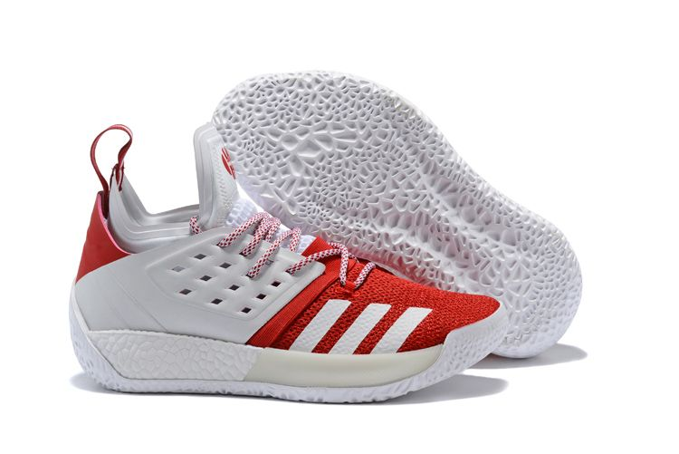 e738fea0a6f adidas Harden Vol. 2 White/Red Basketball Shoes | New adidas Harden ...